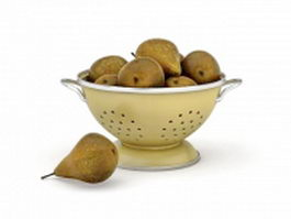 Pears in bowl 3d preview