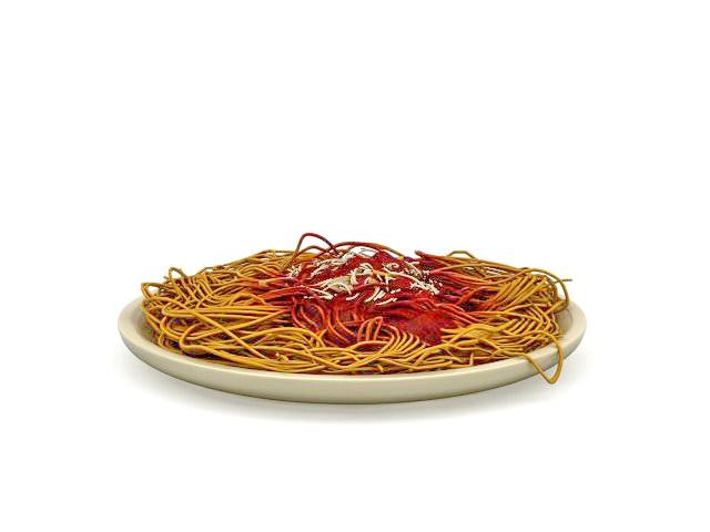 Italian spaghetti 3d rendering