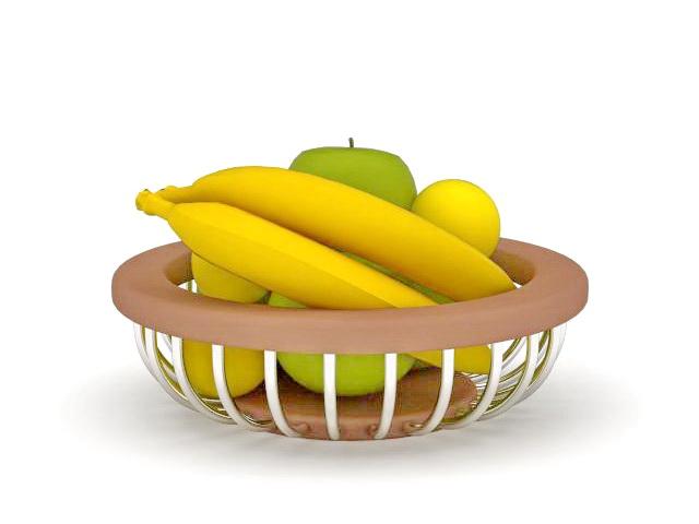 Apple Banana Basket 3d Model 3ds Max Files Free Download