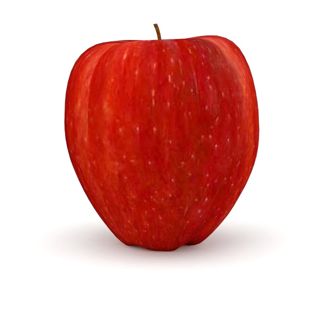Red apple 3d model 3ds max files free download - modeling ...