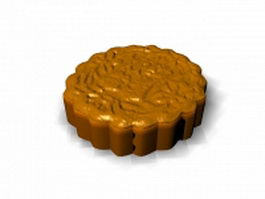 Chinese mooncake 3d preview