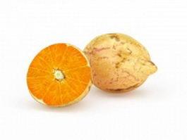 Navel orange and split 3d preview