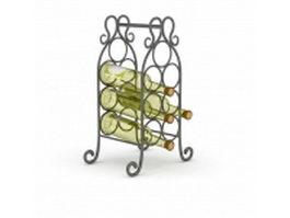 Beer bottle rack 3d model preview