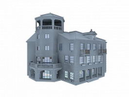 Portugal old building 3d preview