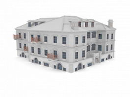 Elegant French apartments 3d preview