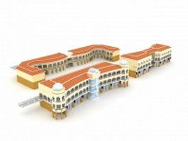 School building 3d preview