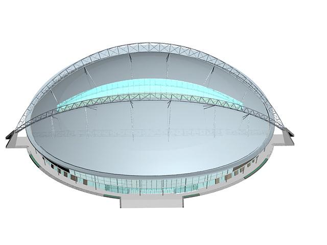 Modern stadium building 3d rendering