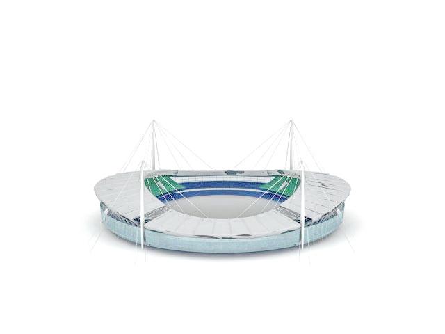 Football stadium architecture 3d rendering