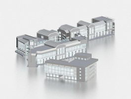 Commercial retail building 3d preview