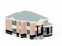 House with garage 3d preview