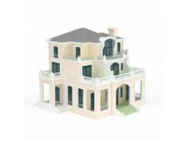 Three storey villa 3d preview
