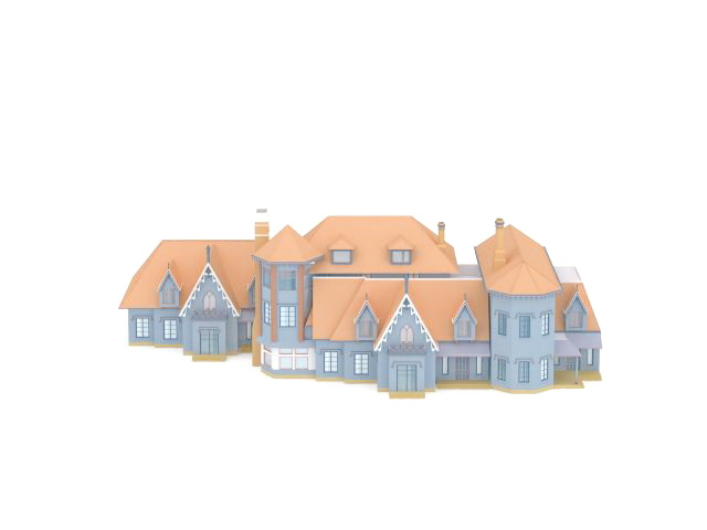 Europe country houses 3d rendering