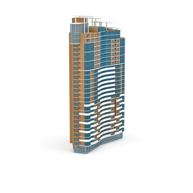 Commercial apartment complexes 3d rendering