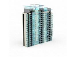 City block apartment 3d model preview