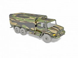 Mercedes military truck 3d model preview