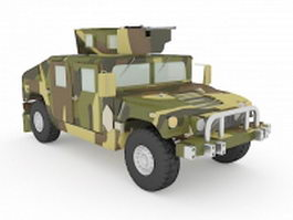 U.S.army HMMWV 3d preview