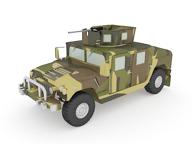 U.S.army HMMWV 3d rendering
