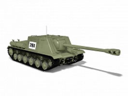 WW2 Soviet Union tank 3d model preview