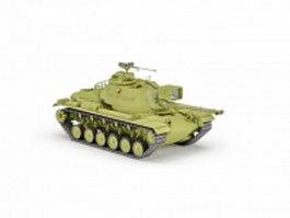 M48 Patton American tank 3d model preview