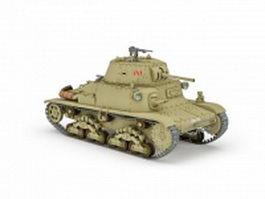 Fiat-Ansaldo M13 WW2 Italian tank 3d model preview