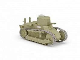 WW1 Italy light tank 3d model preview