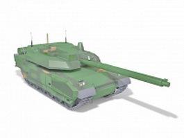 Soviet T-80 main battle tank 3d model preview