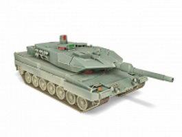 German Leopard tank 3d model preview