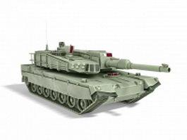 South Korean main battle tank 3d model preview
