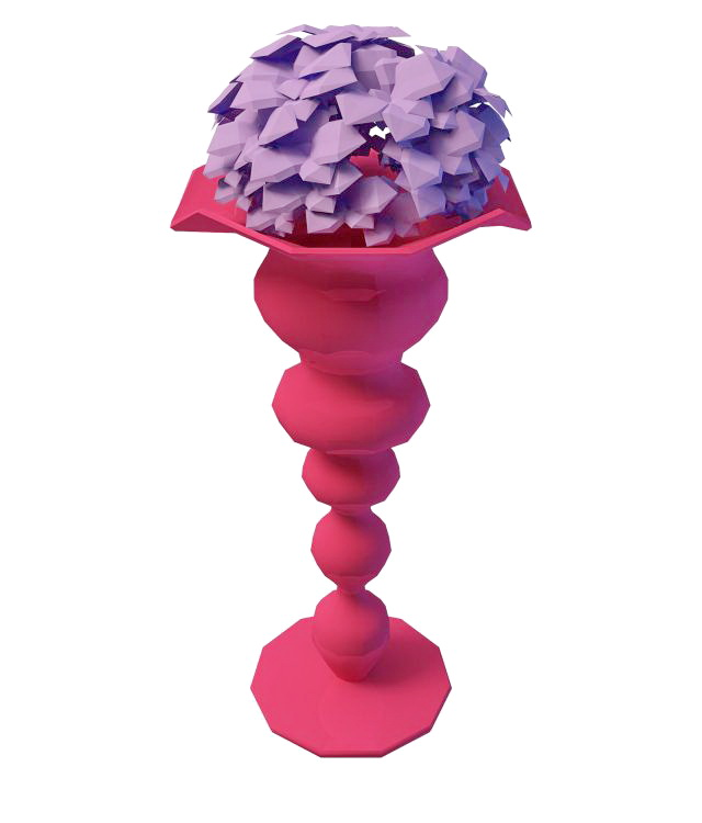 Abstract decorative vase 3d rendering
