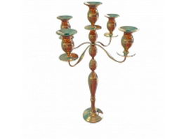 Vintage brass candelabras 3d preview