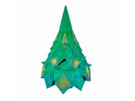 Glass Christmas table top cone tree 3d preview