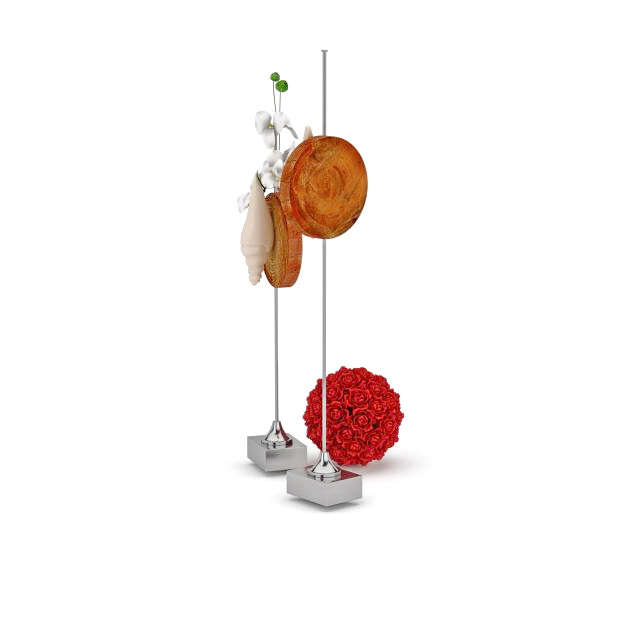 Conch table decorations 3d rendering