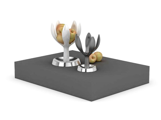 Apple and fruit tray 3d rendering