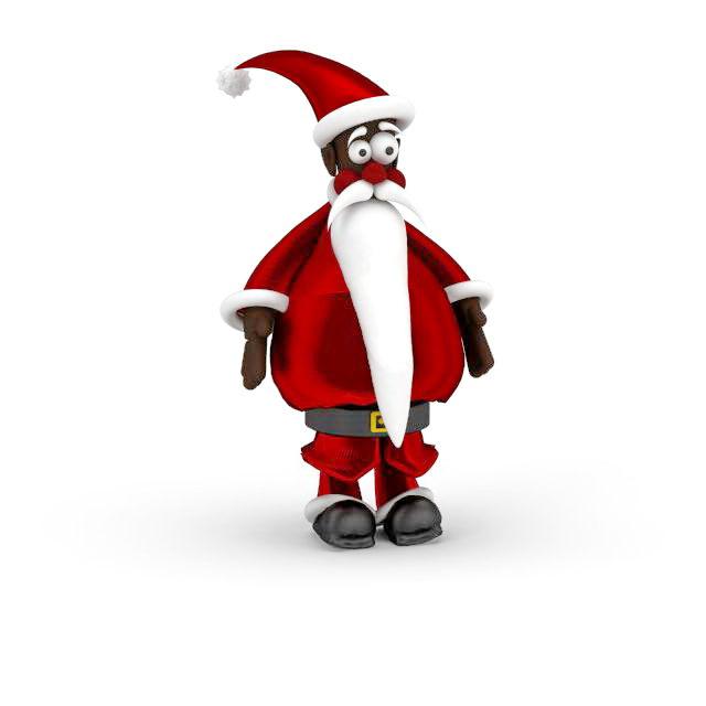 Santa Claus ornament 3d rendering