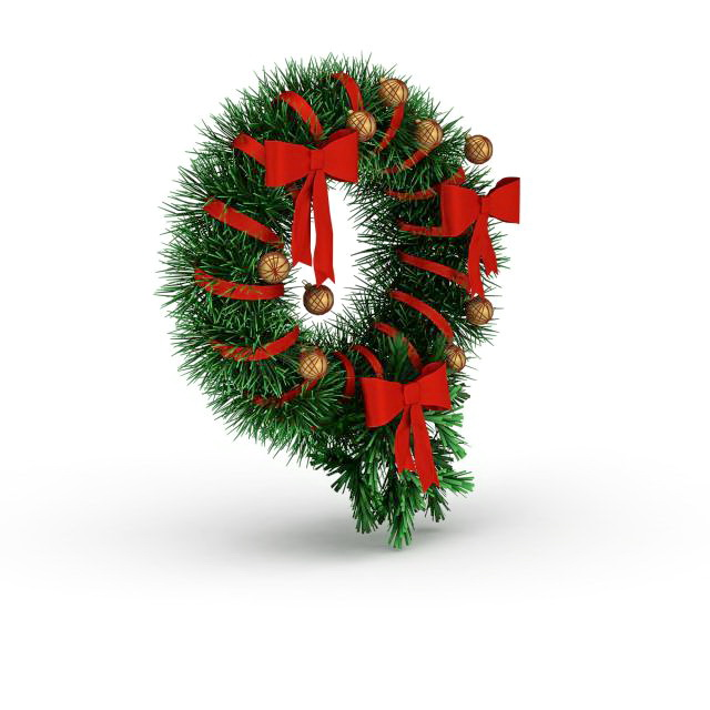 Christmas Holly Wreath 3d Model 3ds Max Files Free