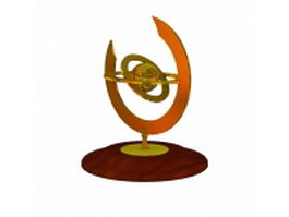 Armillary aphere table ornament 3d preview