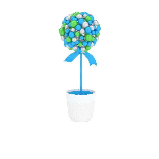 Ball Christmas tree 3d rendering