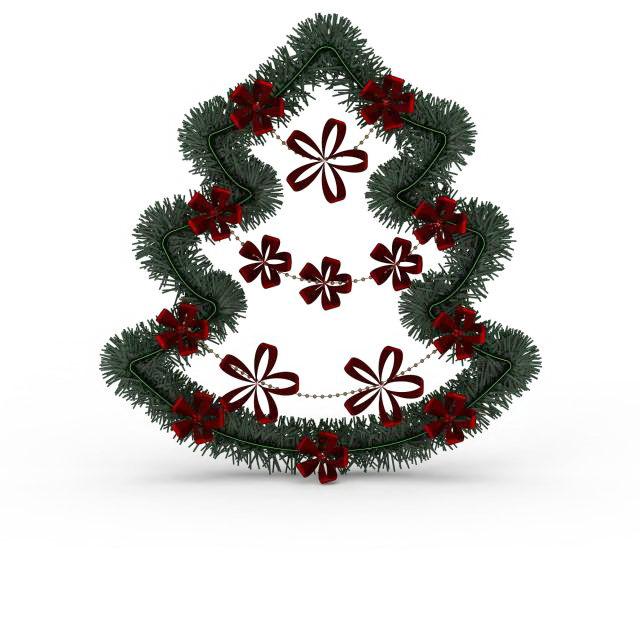 Xmas wreath 3d rendering