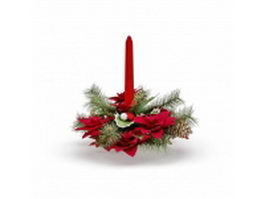Pine cone ornament for Christmas 3d model preview