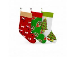 Christmas stockings 3d preview