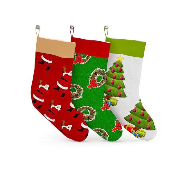 Christmas stockings 3d rendering