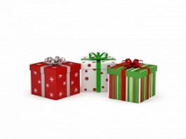 Christmas gift boxes 3d preview