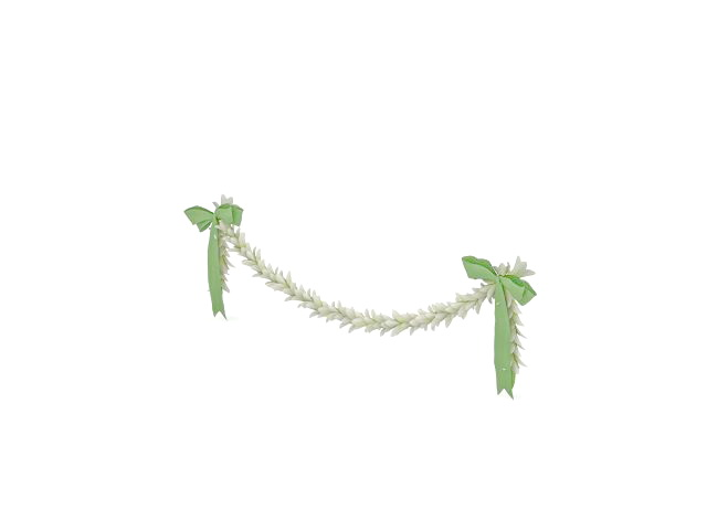 White flower Christmas chain 3d rendering