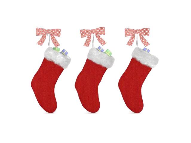 Christmas stocking craft 3d rendering