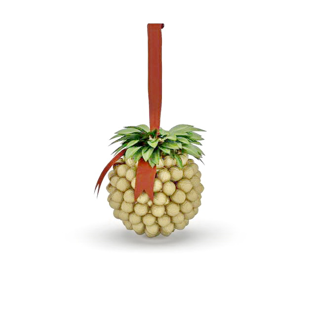 Hanging Christmas balls 3d rendering
