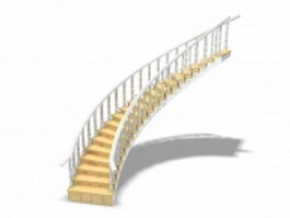 Interior home stairs 3d preview