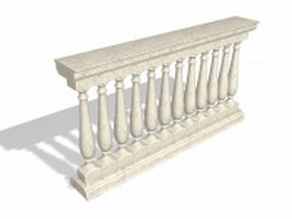 Marble railing baluster 3d preview