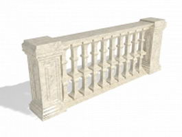 Outdoor railings 3d preview