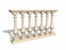 Marble railings for porch 3d preview