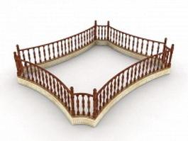 Loft railings 3d preview
